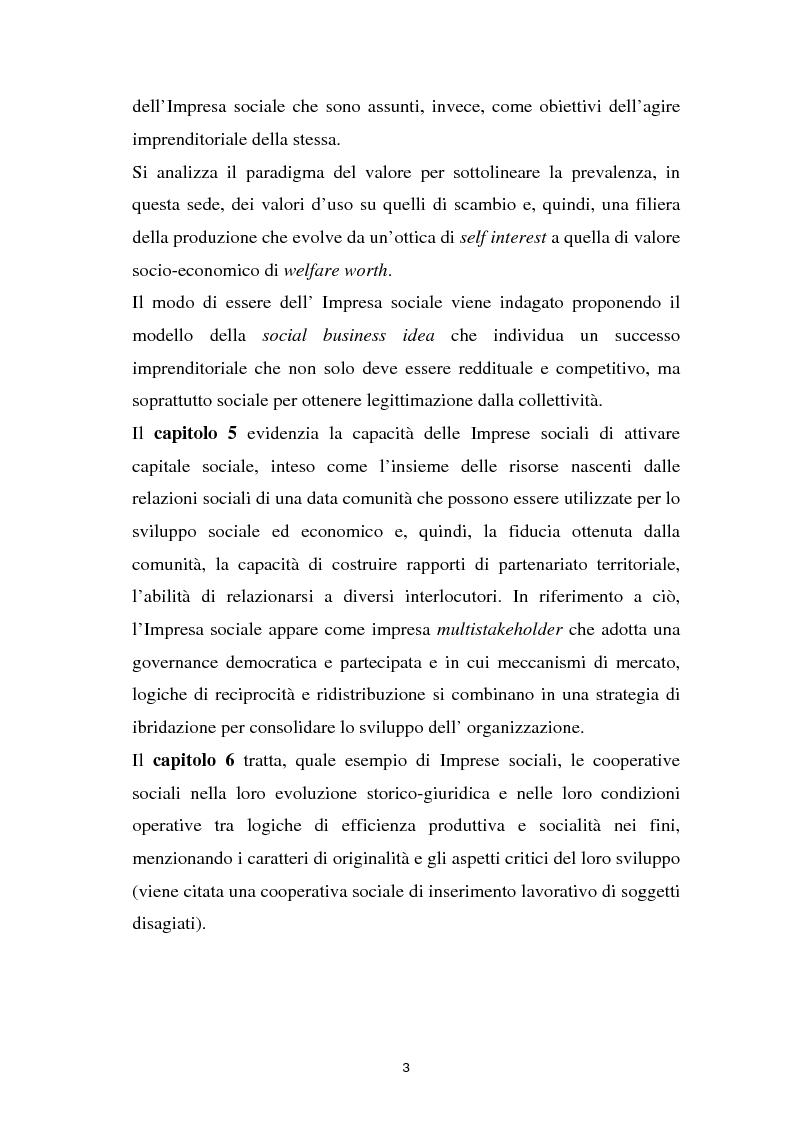 Anteprima della tesi: Alla ricerca dell'Impresa sociale, Pagina 3