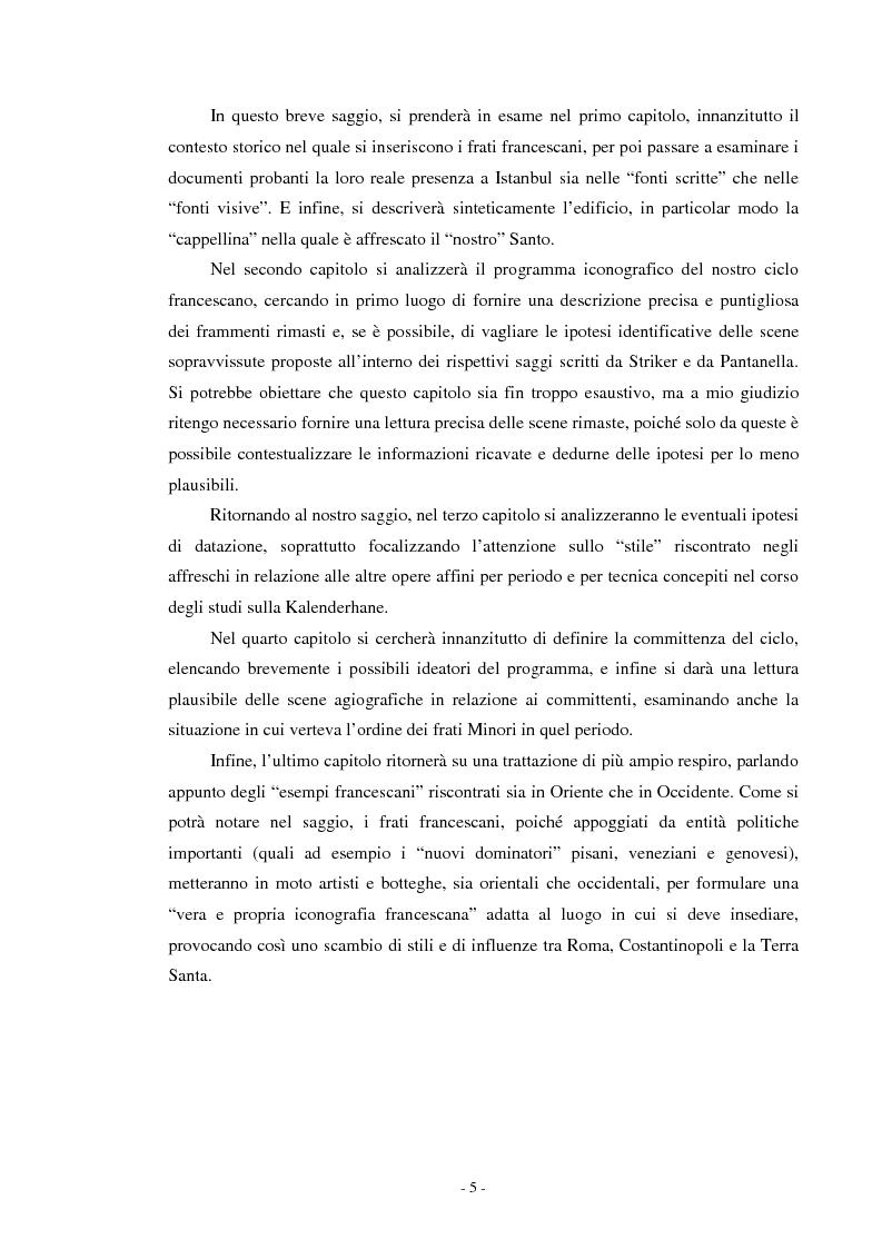 Anteprima della tesi: Il ciclo di affreschi con le storie di San Francesco d'Assisi alla Kalenderhane Camii in Istanbul, Pagina 2