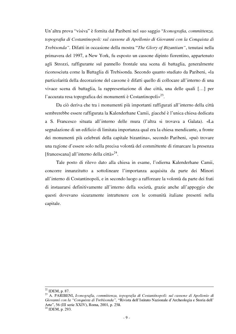 Anteprima della tesi: Il ciclo di affreschi con le storie di San Francesco d'Assisi alla Kalenderhane Camii in Istanbul, Pagina 6