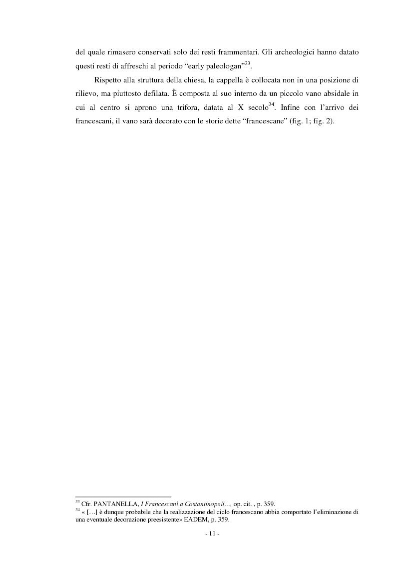 Anteprima della tesi: Il ciclo di affreschi con le storie di San Francesco d'Assisi alla Kalenderhane Camii in Istanbul, Pagina 8