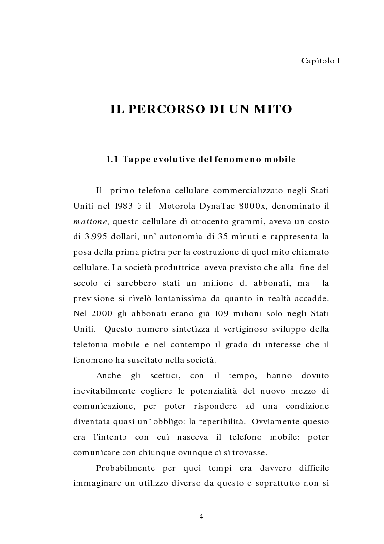 Anteprima della tesi: TV MOBILE: provocazione o nuova modalità di fruizione del mezzo televisivo?, Pagina 4