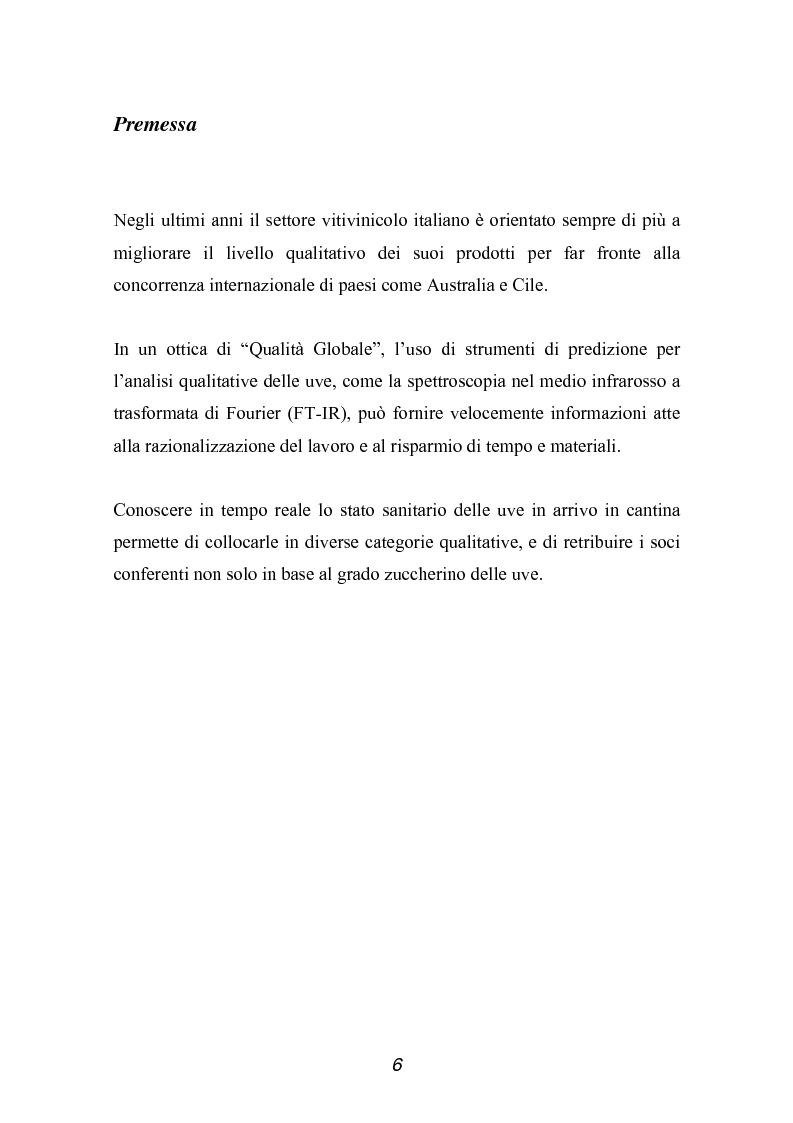 Anteprima della tesi: Valutazione della qualità di uve Sangiovese mediante tecnica FT-IR, Pagina 1
