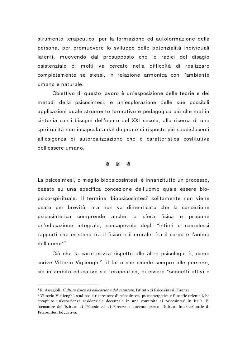 Anteprima della tesi: Oltre il viola. La psicosintesi, strumento pedagogico del nostro tempo, Pagina 2