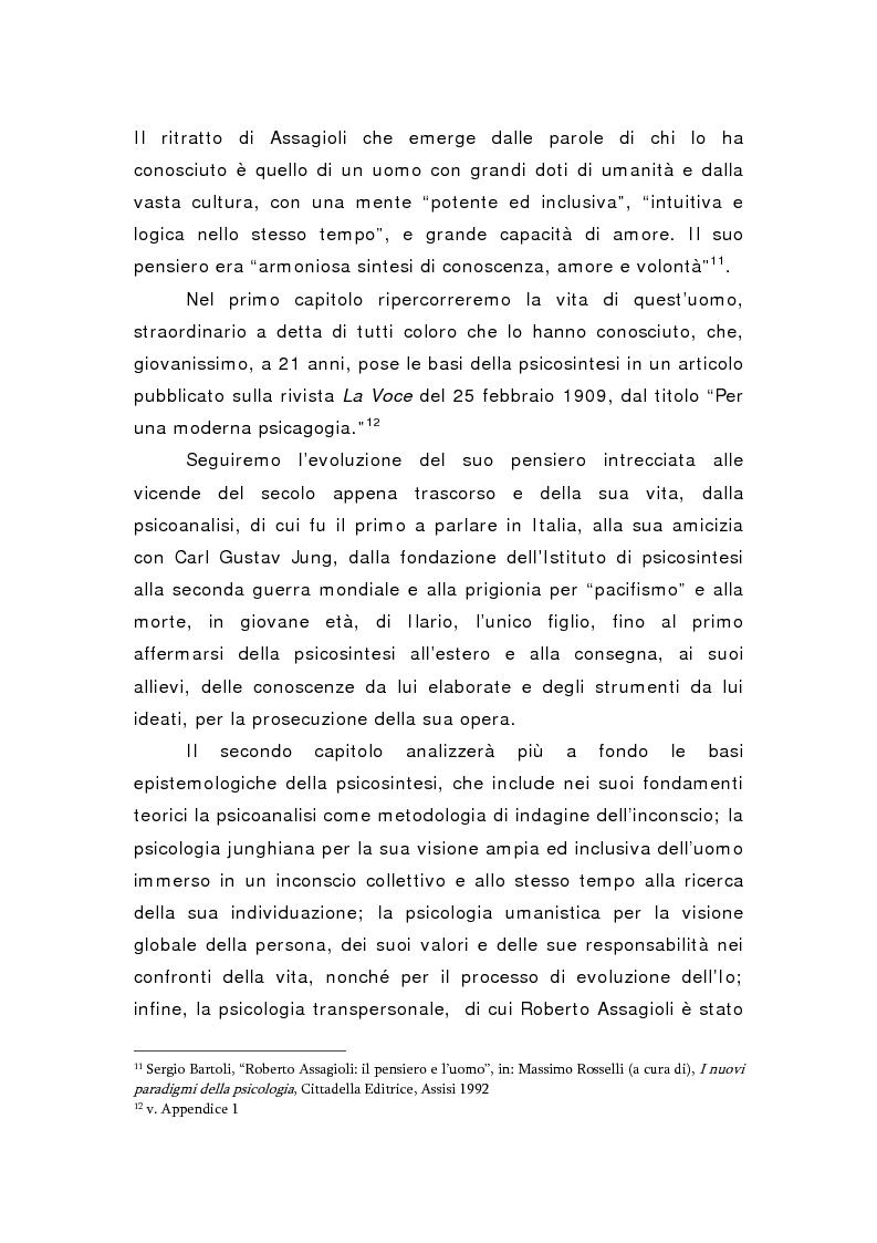 Anteprima della tesi: Oltre il viola. La psicosintesi, strumento pedagogico del nostro tempo, Pagina 5