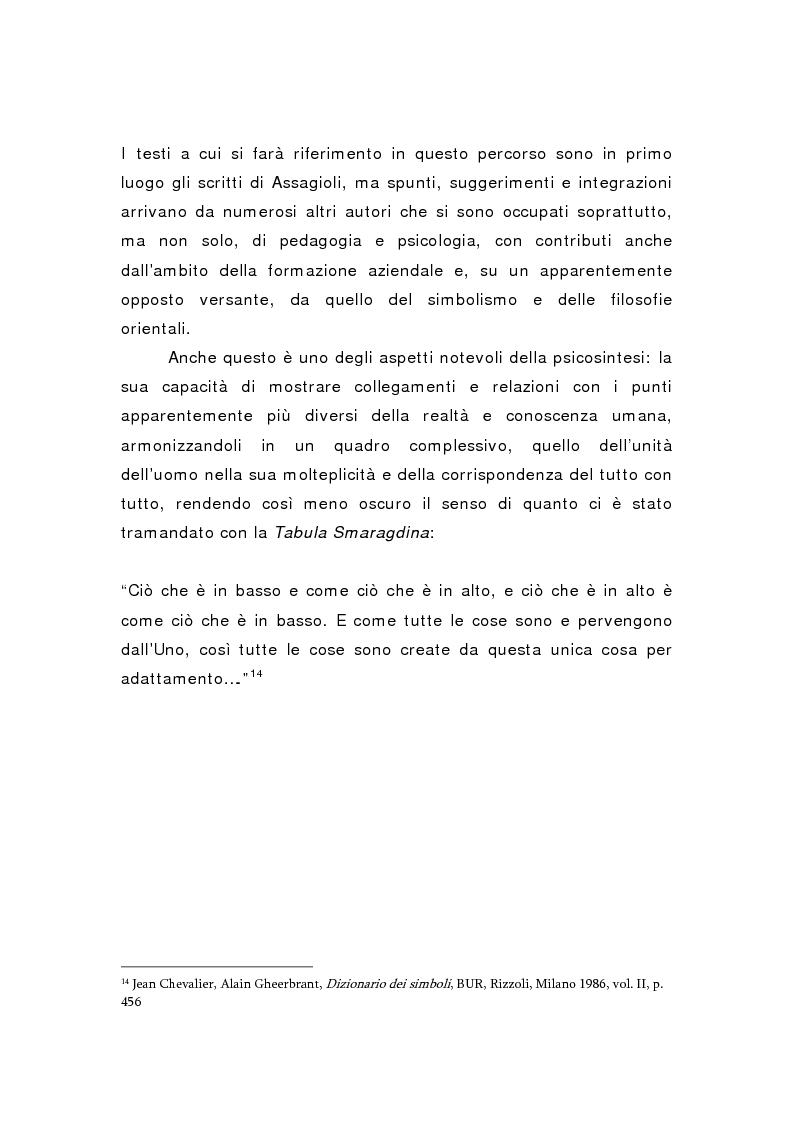 Anteprima della tesi: Oltre il viola. La psicosintesi, strumento pedagogico del nostro tempo, Pagina 7