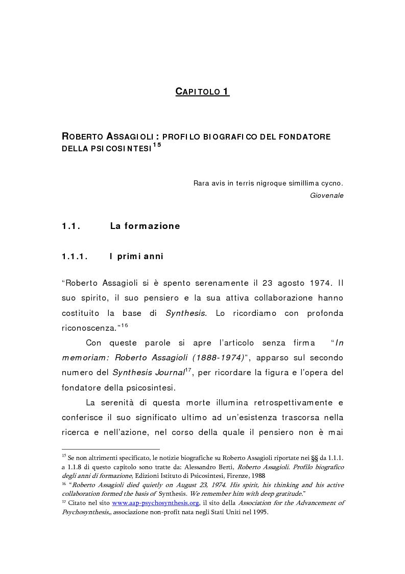 Anteprima della tesi: Oltre il viola. La psicosintesi, strumento pedagogico del nostro tempo, Pagina 8