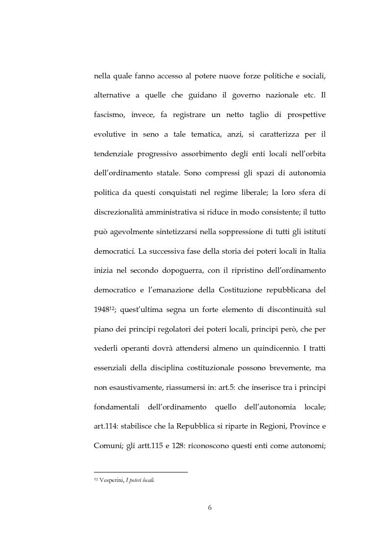 Anteprima della tesi: Il sistema di governo locale, Pagina 6