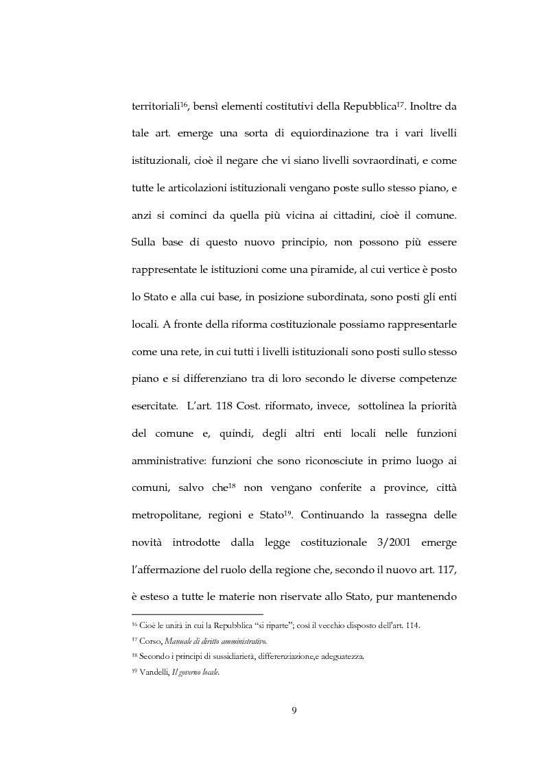 Anteprima della tesi: Il sistema di governo locale, Pagina 9