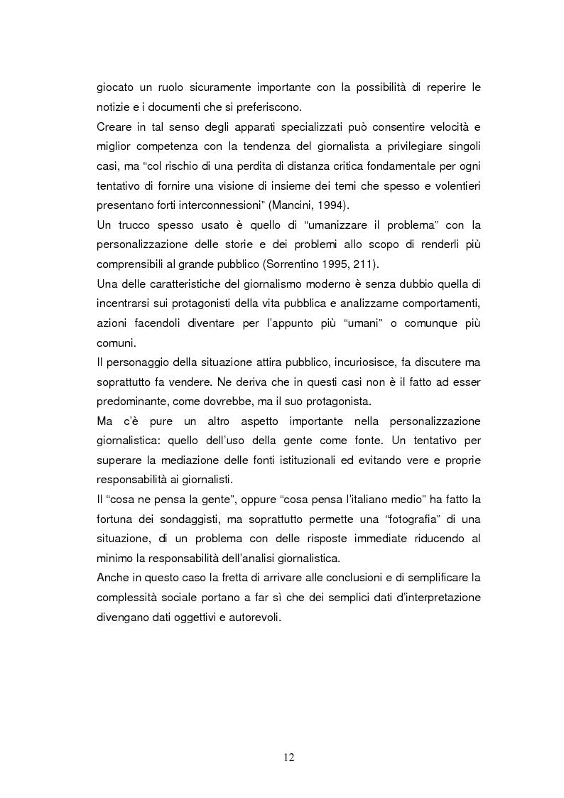 Anteprima della tesi: La costruzione della notizia: il caso Sky sport, Pagina 12