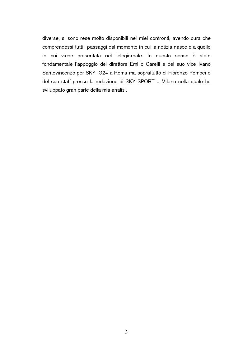Anteprima della tesi: La costruzione della notizia: il caso Sky sport, Pagina 3
