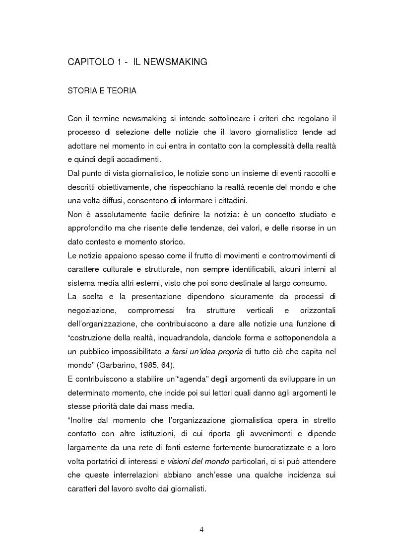 Anteprima della tesi: La costruzione della notizia: il caso Sky sport, Pagina 4