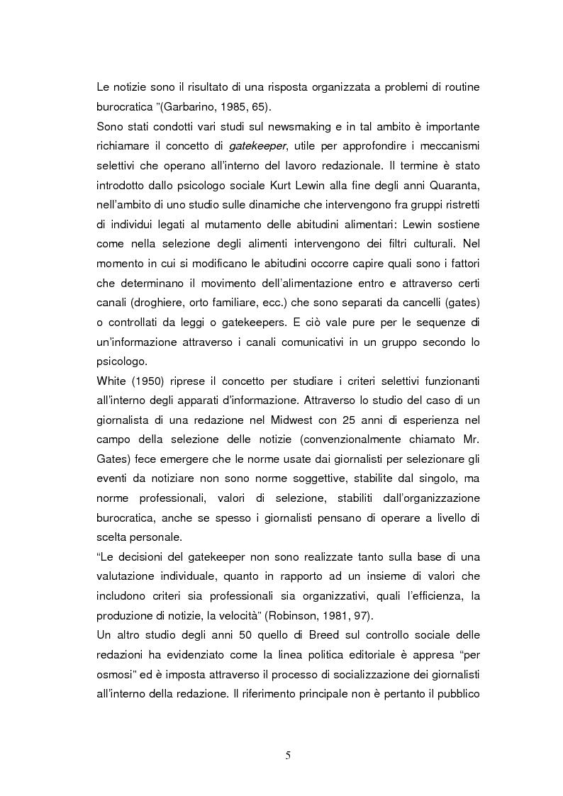 Anteprima della tesi: La costruzione della notizia: il caso Sky sport, Pagina 5