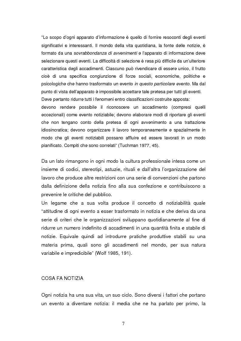 Anteprima della tesi: La costruzione della notizia: il caso Sky sport, Pagina 7
