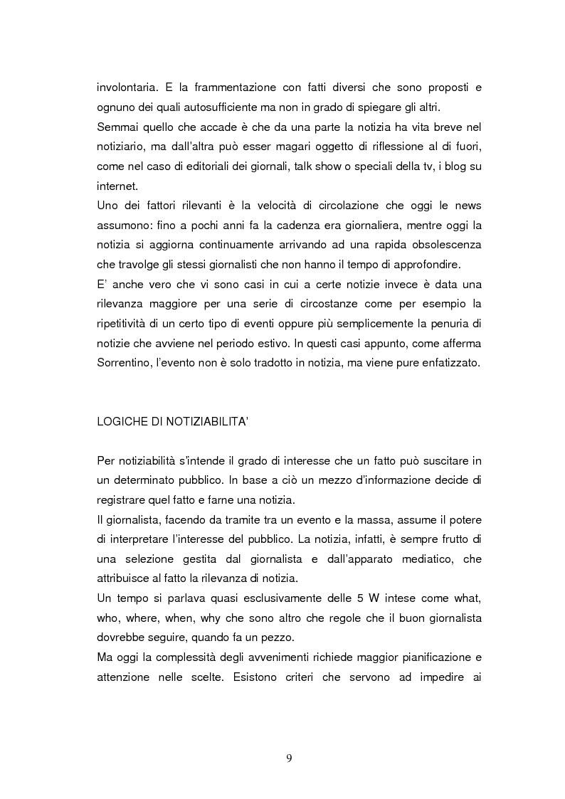 Anteprima della tesi: La costruzione della notizia: il caso Sky sport, Pagina 9