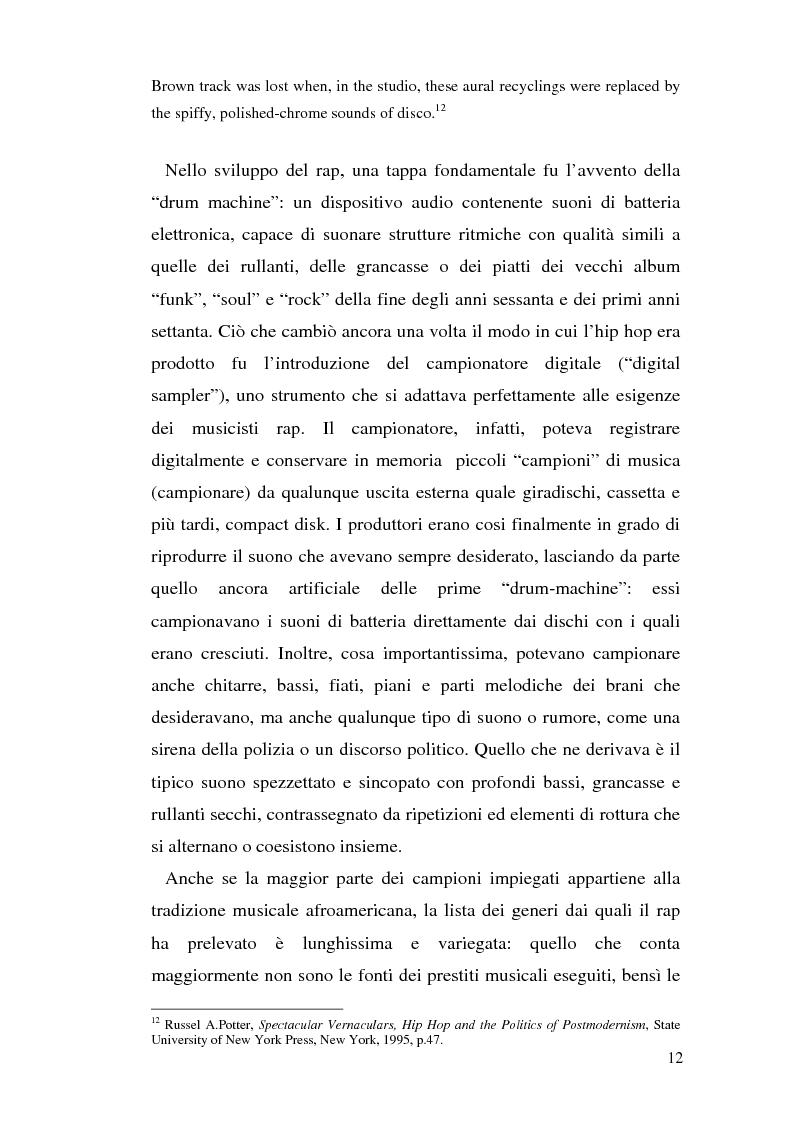 Anteprima della tesi: ''Blood of a Slave, Heart of a King'': la rilevanza poetica della rap music nel contesto americano contemporaneo, Pagina 10