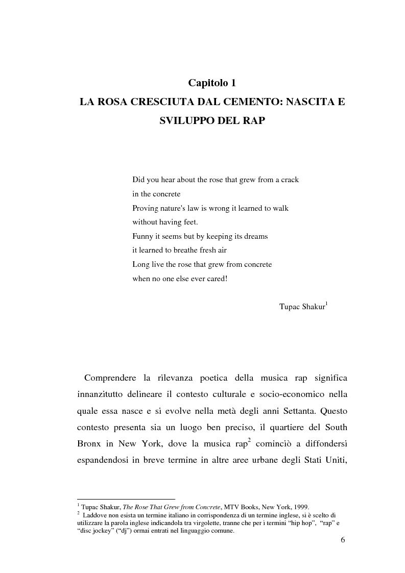 Anteprima della tesi: ''Blood of a Slave, Heart of a King'': la rilevanza poetica della rap music nel contesto americano contemporaneo, Pagina 4
