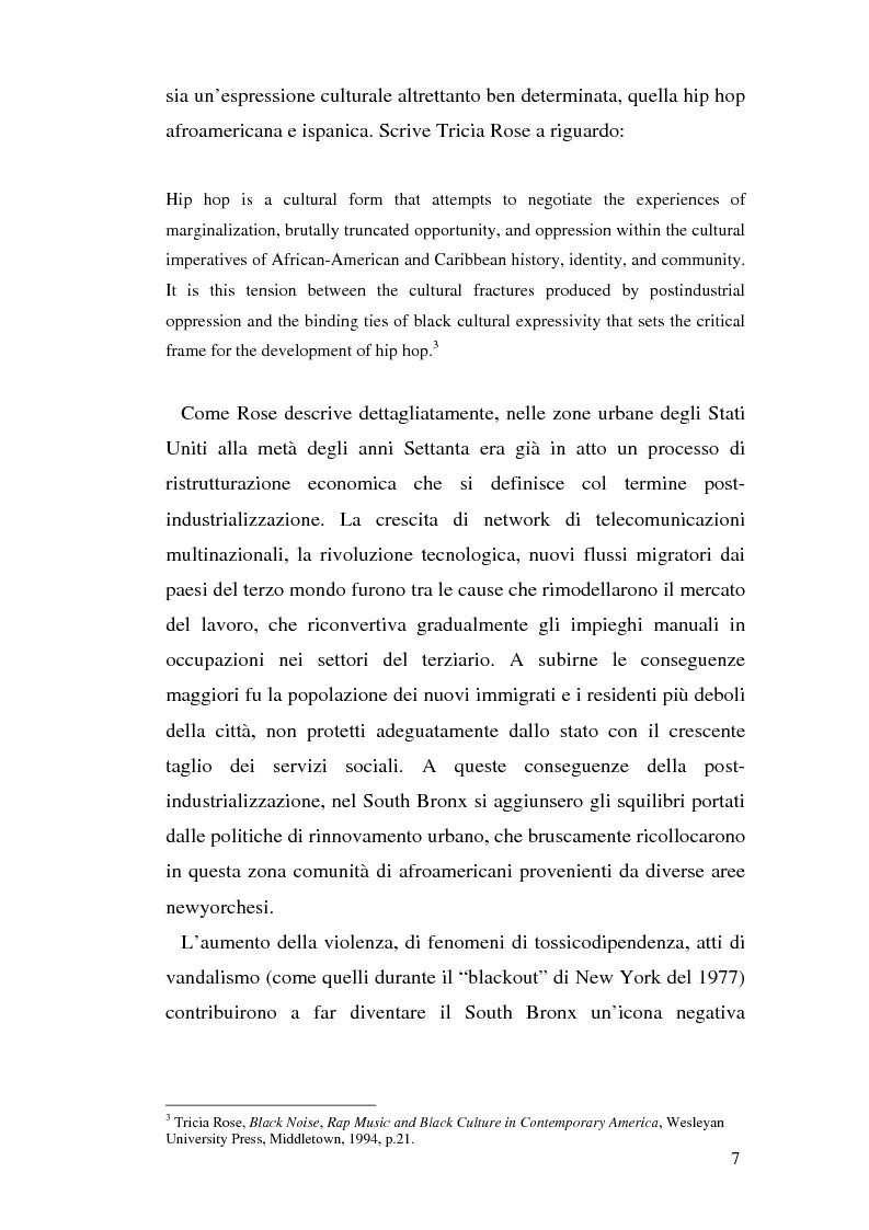 Anteprima della tesi: ''Blood of a Slave, Heart of a King'': la rilevanza poetica della rap music nel contesto americano contemporaneo, Pagina 5