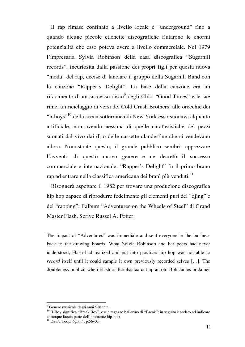 Anteprima della tesi: ''Blood of a Slave, Heart of a King'': la rilevanza poetica della rap music nel contesto americano contemporaneo, Pagina 9