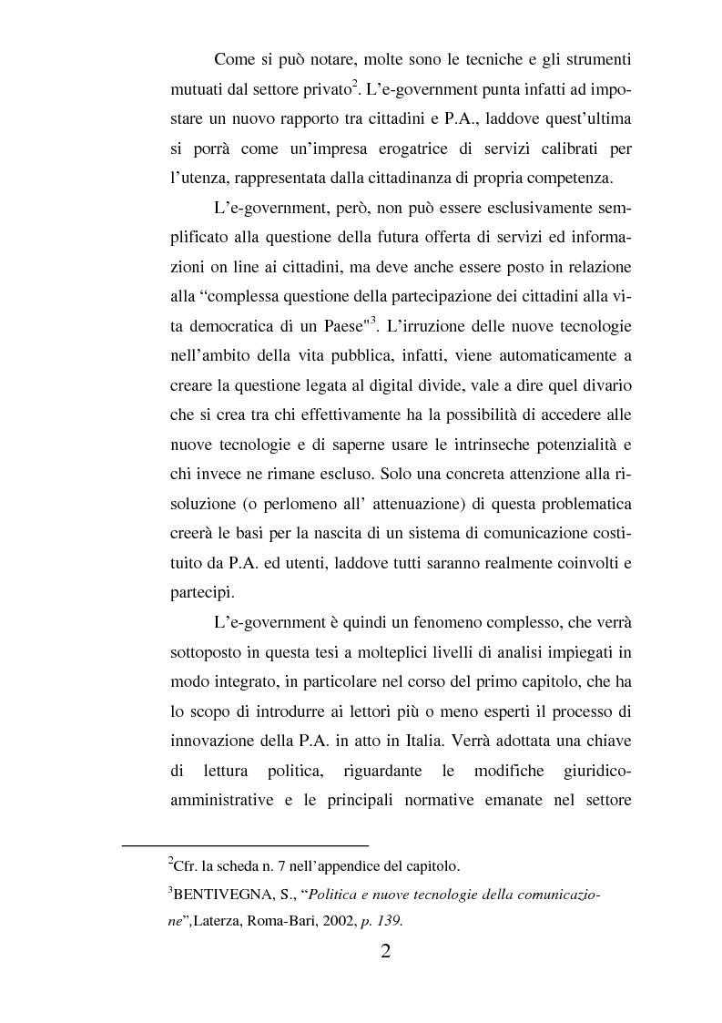 Anteprima della tesi: Il ruolo dell'usabilità nella progettazione dei servizi di e-government, Pagina 2