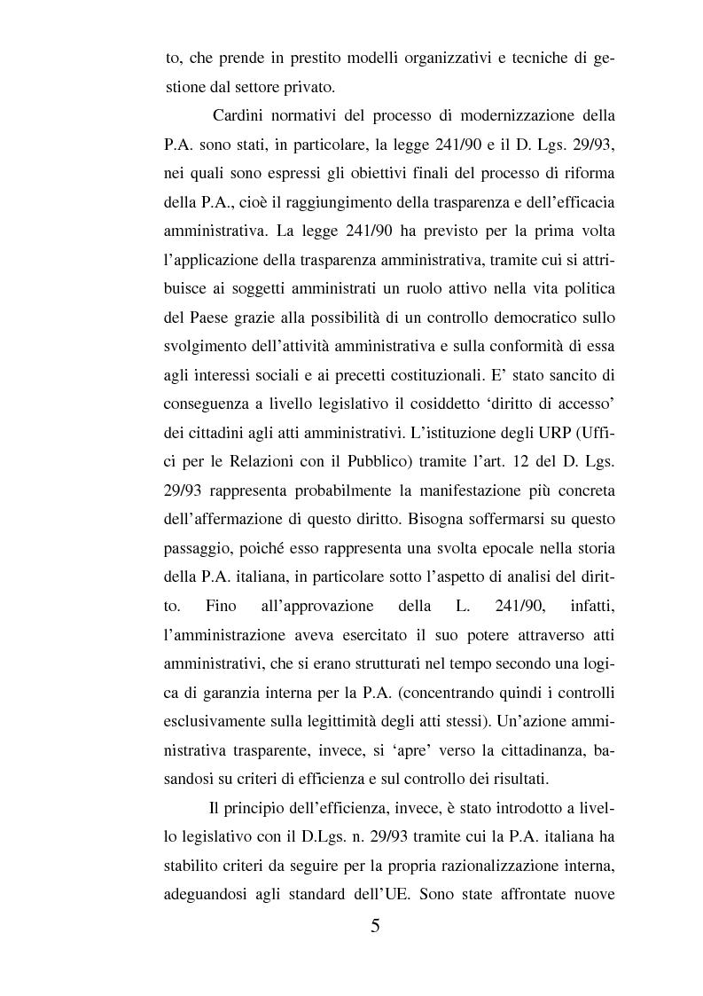 Anteprima della tesi: Il ruolo dell'usabilità nella progettazione dei servizi di e-government, Pagina 5
