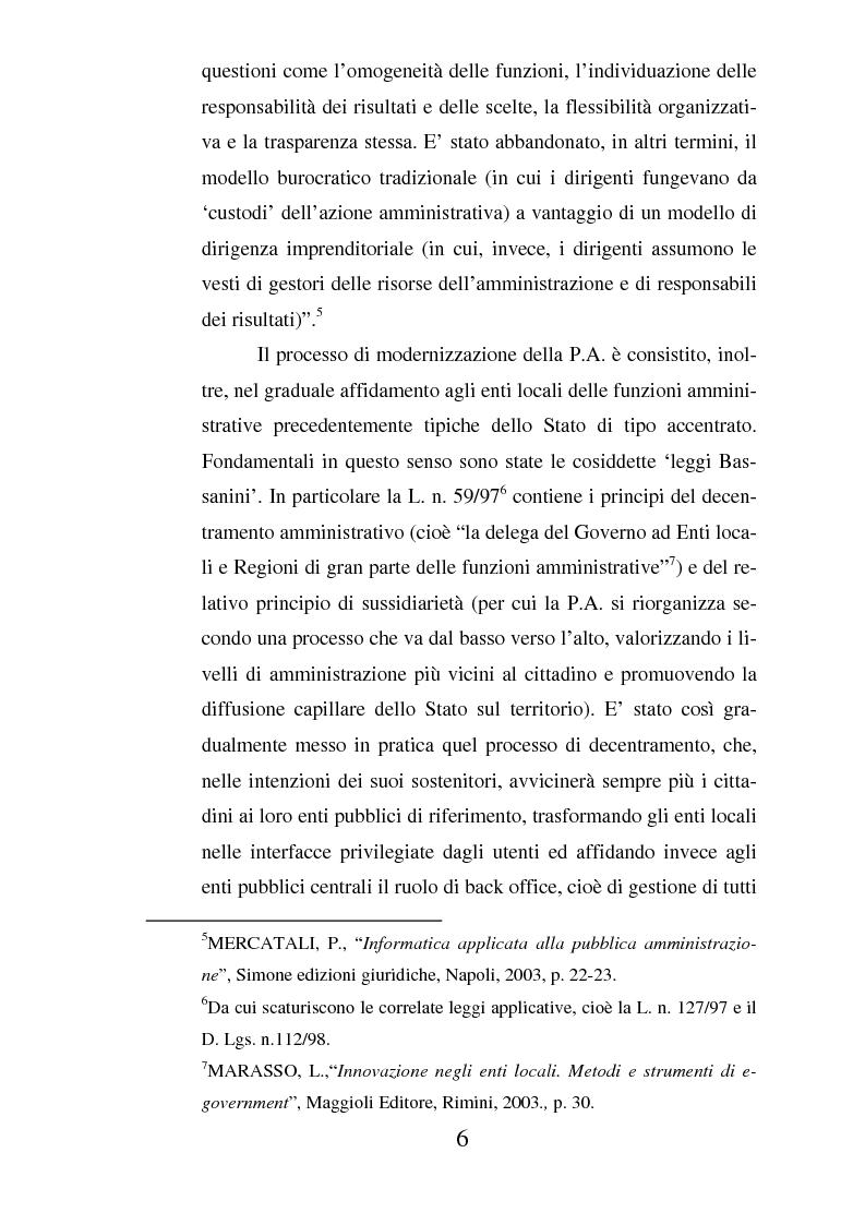 Anteprima della tesi: Il ruolo dell'usabilità nella progettazione dei servizi di e-government, Pagina 6