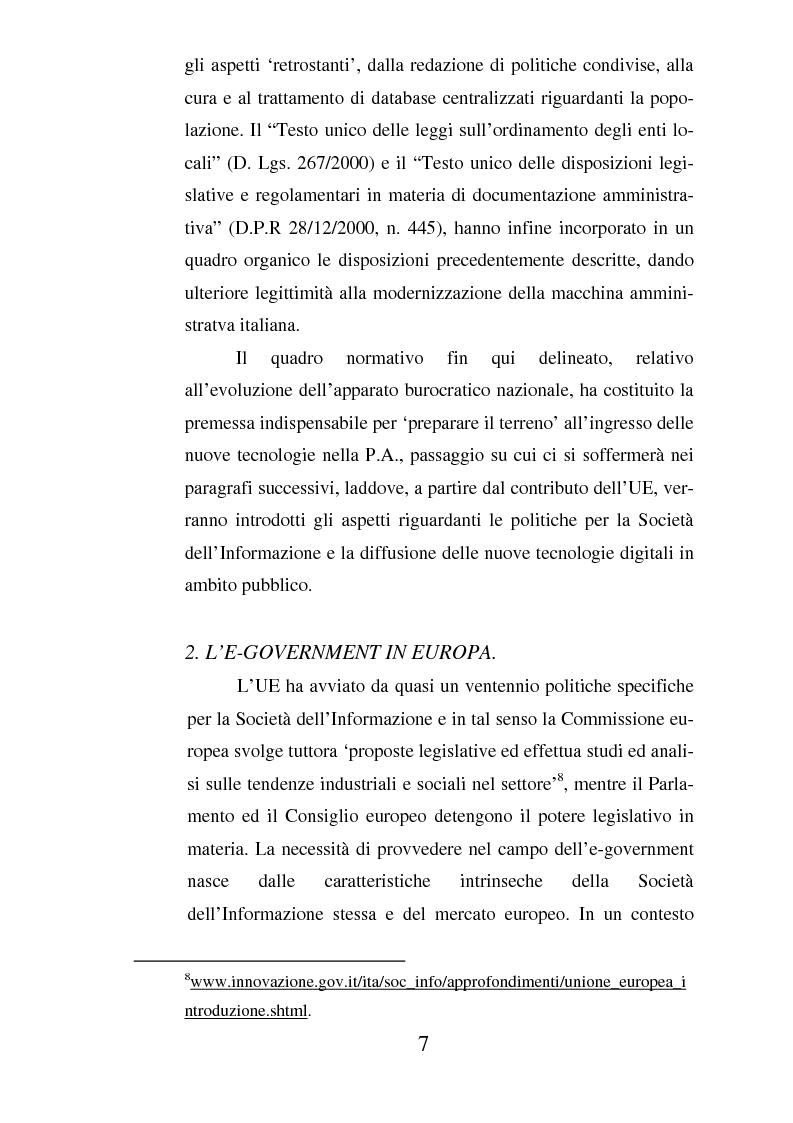 Anteprima della tesi: Il ruolo dell'usabilità nella progettazione dei servizi di e-government, Pagina 7