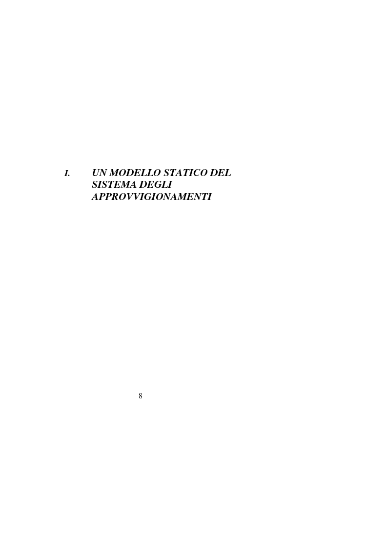 Anteprima della tesi: Gli approvvigionamenti nella Pubblica Amministrazione: alcuni aspetti organizzativi, Pagina 3