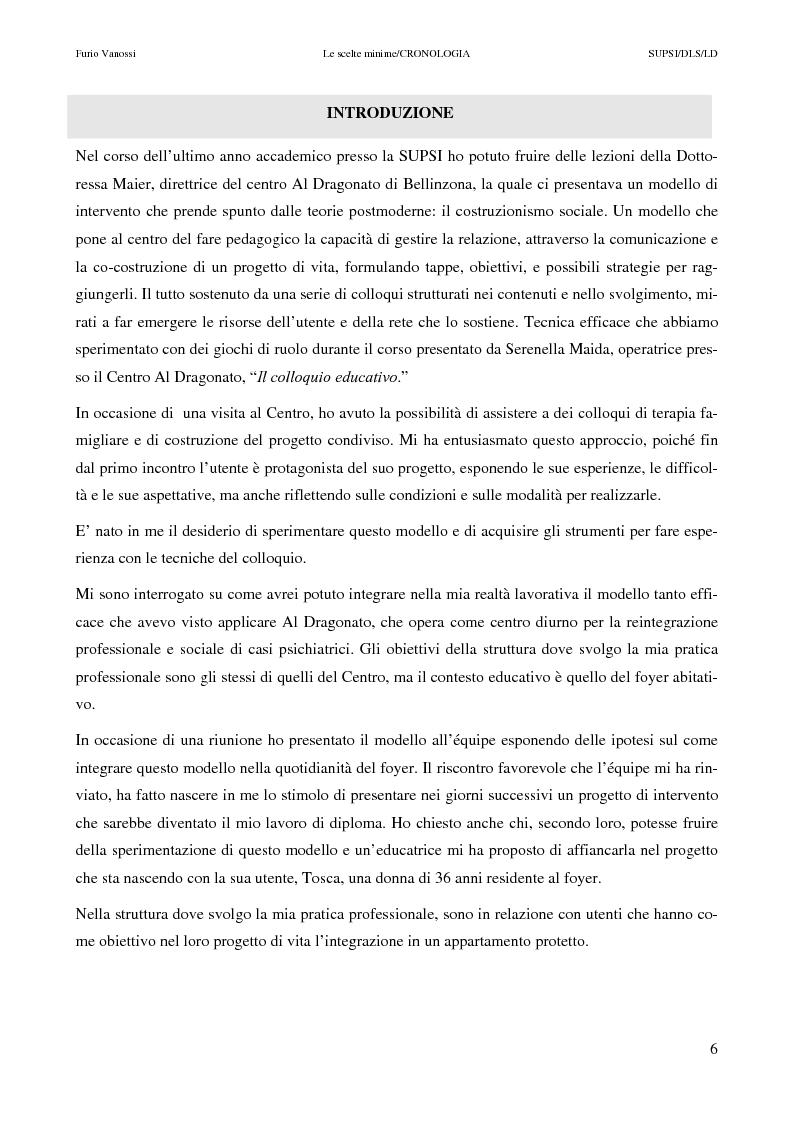 Anteprima della tesi: Le scelte minime, il colloquio in campo psicopedagogico, Pagina 1