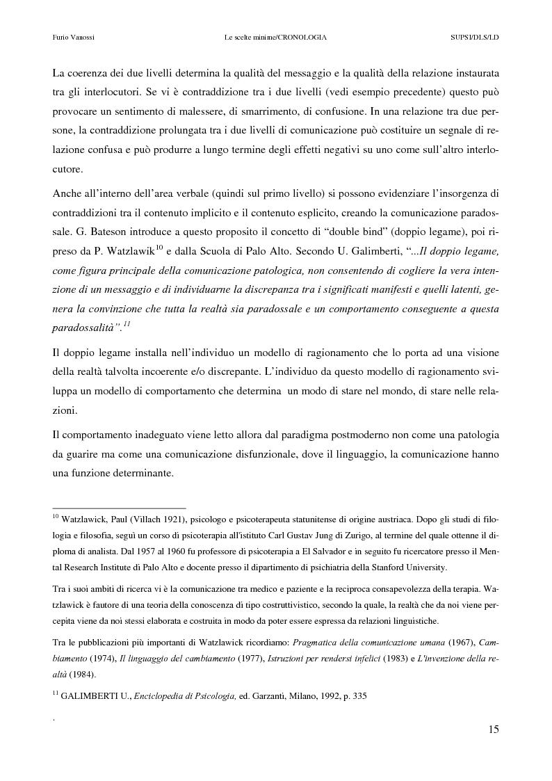 Anteprima della tesi: Le scelte minime, il colloquio in campo psicopedagogico, Pagina 10
