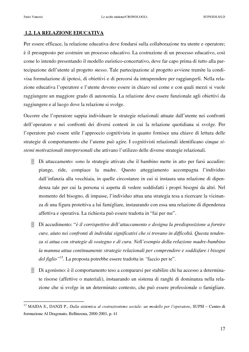 Anteprima della tesi: Le scelte minime, il colloquio in campo psicopedagogico, Pagina 12