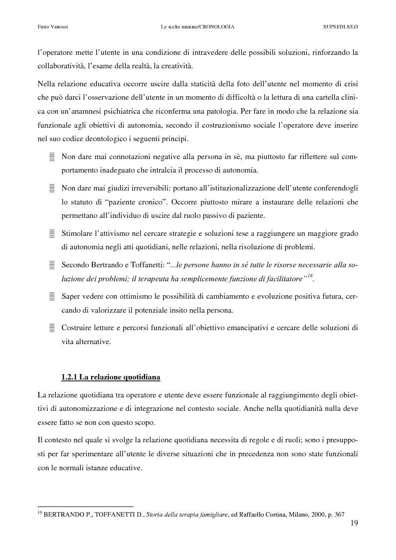 Anteprima della tesi: Le scelte minime, il colloquio in campo psicopedagogico, Pagina 14