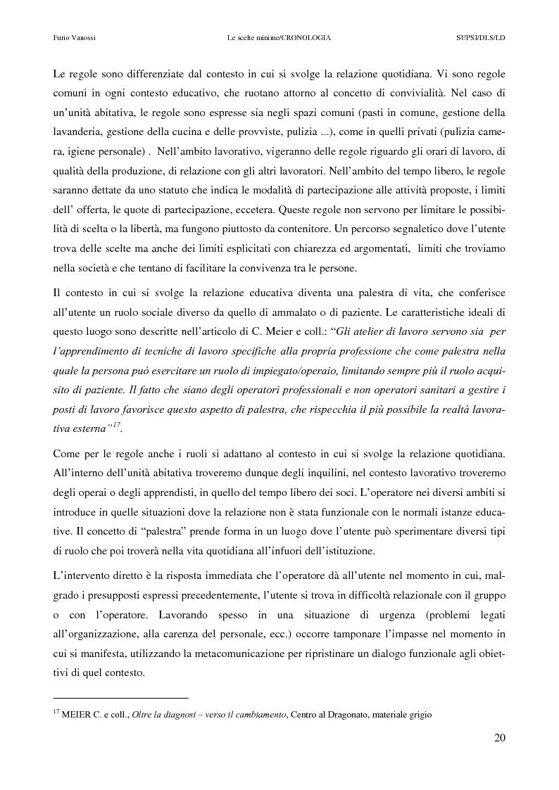 Anteprima della tesi: Le scelte minime, il colloquio in campo psicopedagogico, Pagina 15