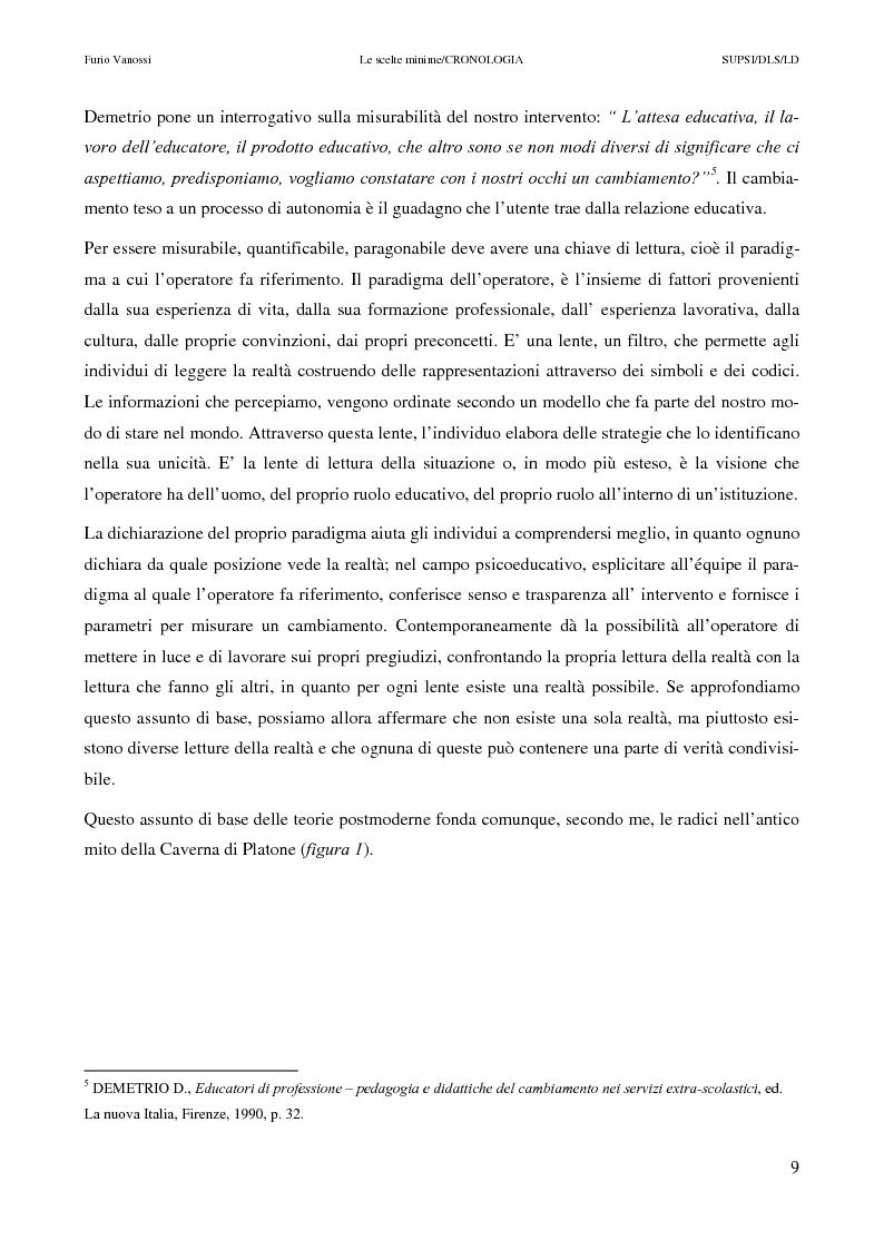 Anteprima della tesi: Le scelte minime, il colloquio in campo psicopedagogico, Pagina 4