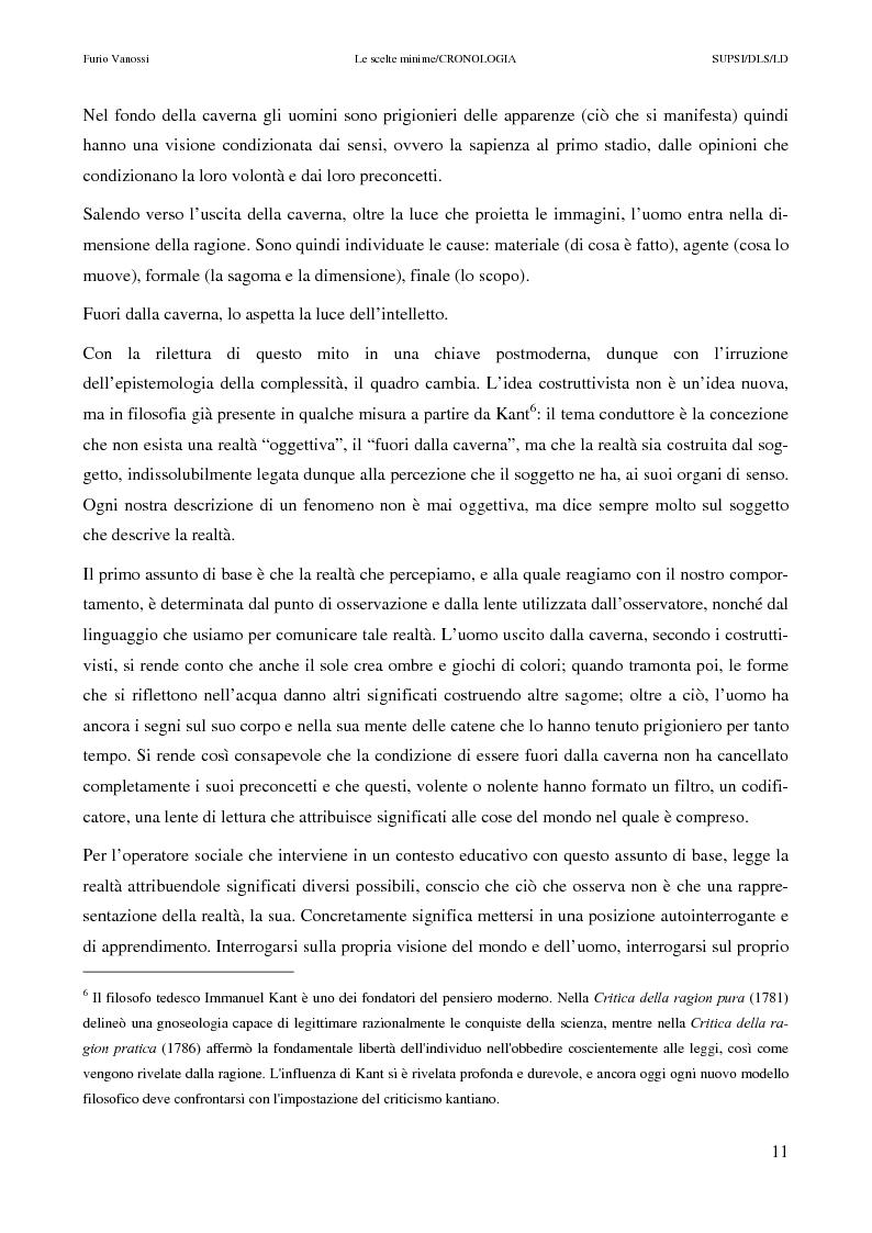 Anteprima della tesi: Le scelte minime, il colloquio in campo psicopedagogico, Pagina 6