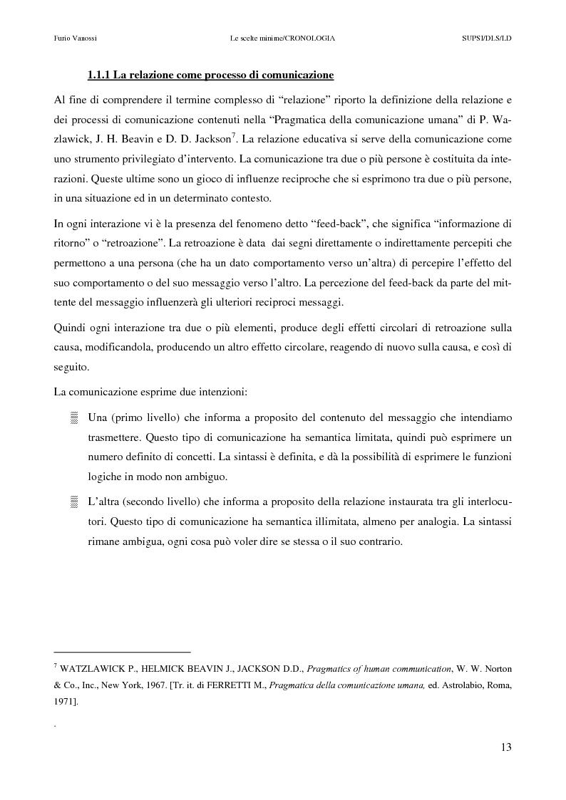 Anteprima della tesi: Le scelte minime, il colloquio in campo psicopedagogico, Pagina 8