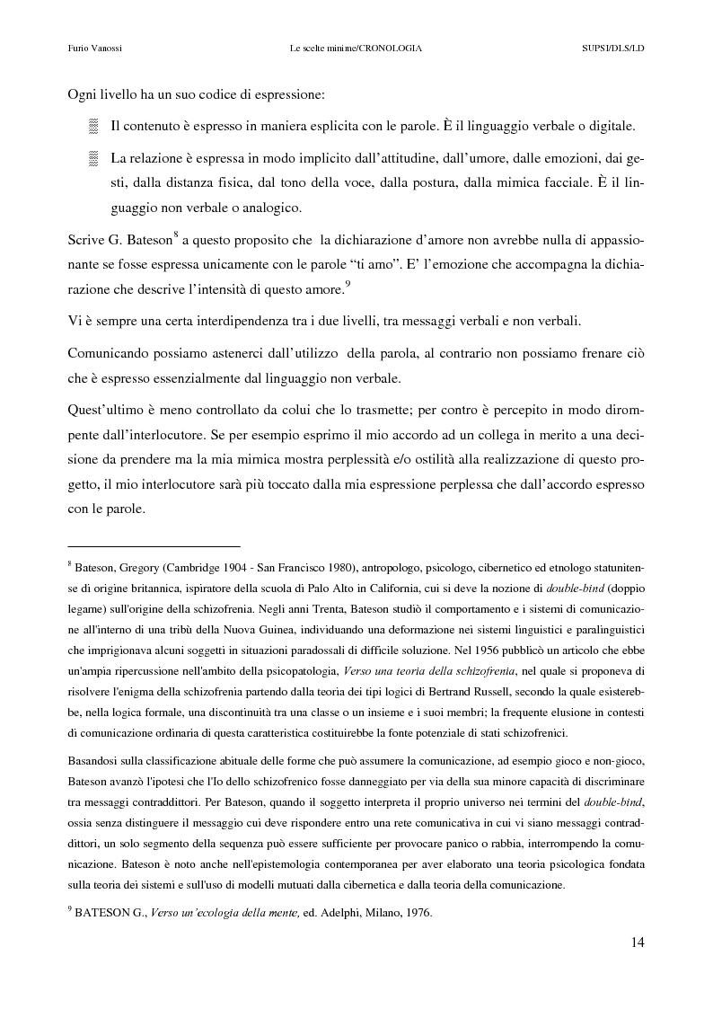 Anteprima della tesi: Le scelte minime, il colloquio in campo psicopedagogico, Pagina 9
