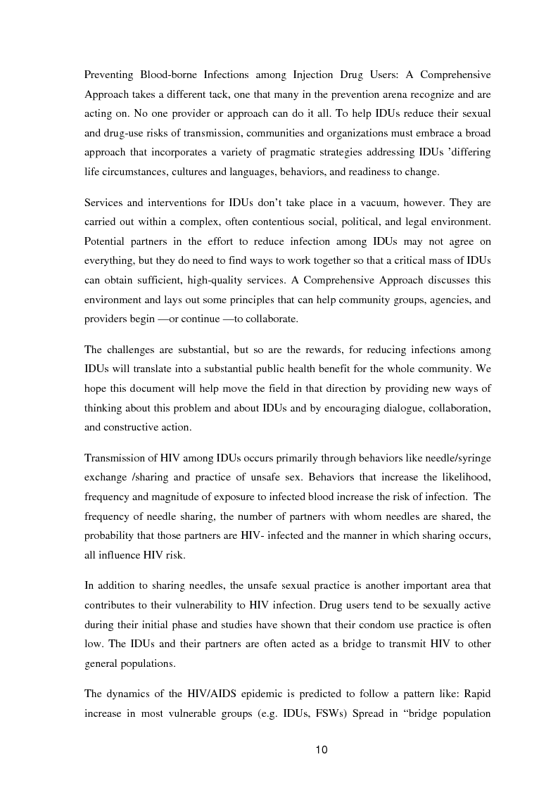 Anteprima della tesi: A study of knowledge and behaviour in relation to the risk of HIV among injecting drug users in Bhaktapur district of Nepal, Pagina 2