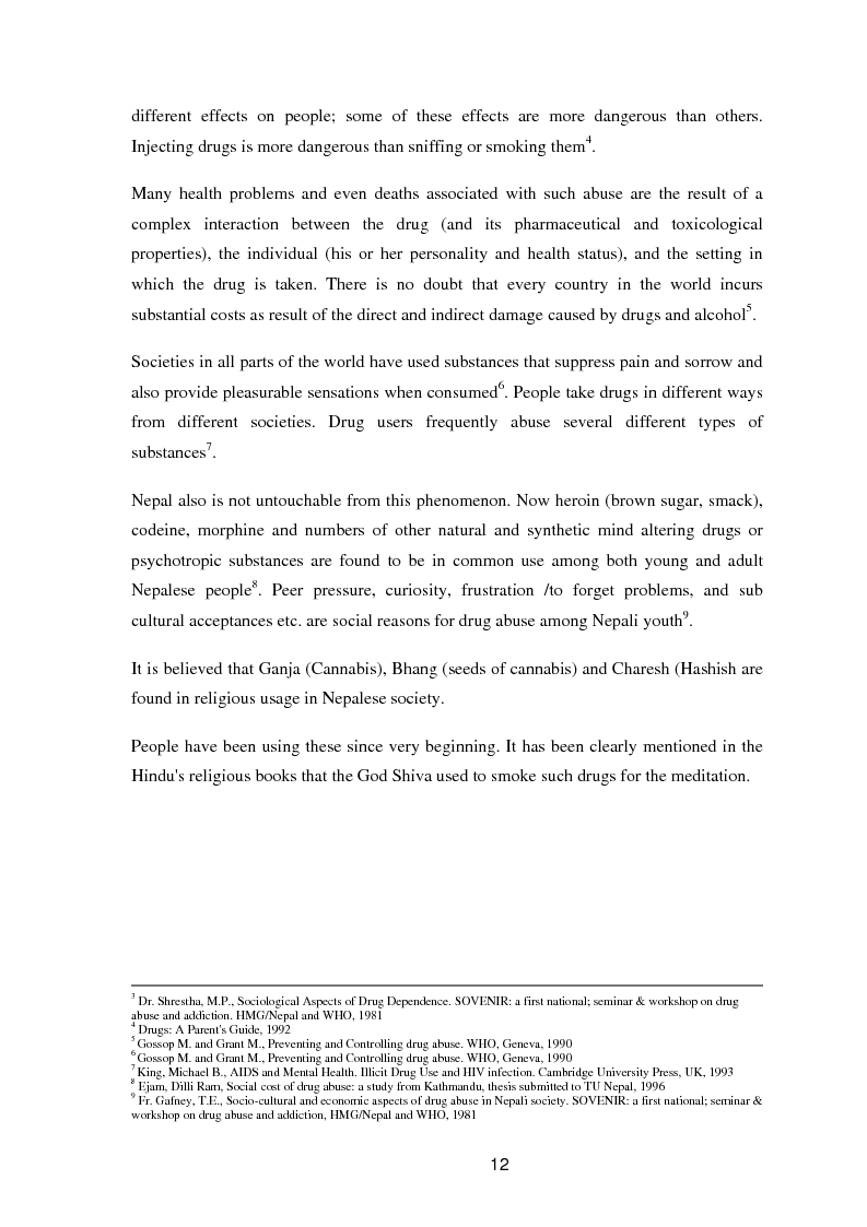 Anteprima della tesi: A study of knowledge and behaviour in relation to the risk of HIV among injecting drug users in Bhaktapur district of Nepal, Pagina 4