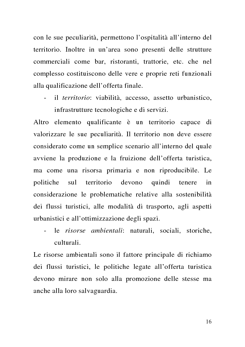 Anteprima della tesi: Enogastronomia e territorio nel fenomeno turistico, Pagina 10