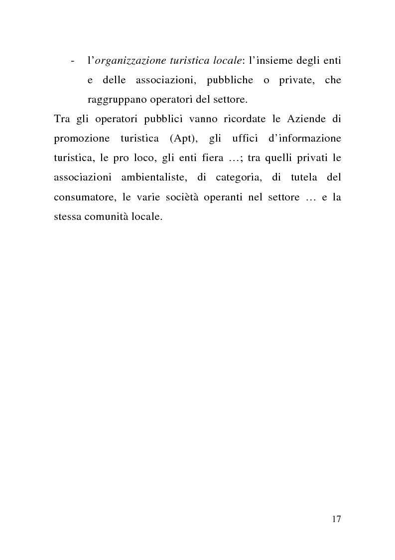 Anteprima della tesi: Enogastronomia e territorio nel fenomeno turistico, Pagina 11