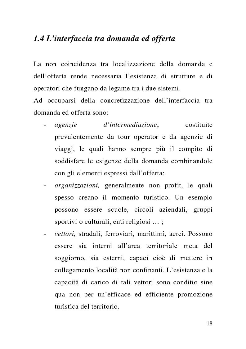 Anteprima della tesi: Enogastronomia e territorio nel fenomeno turistico, Pagina 12