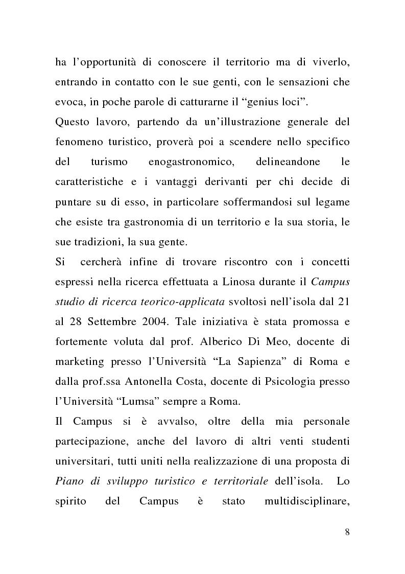 Anteprima della tesi: Enogastronomia e territorio nel fenomeno turistico, Pagina 2