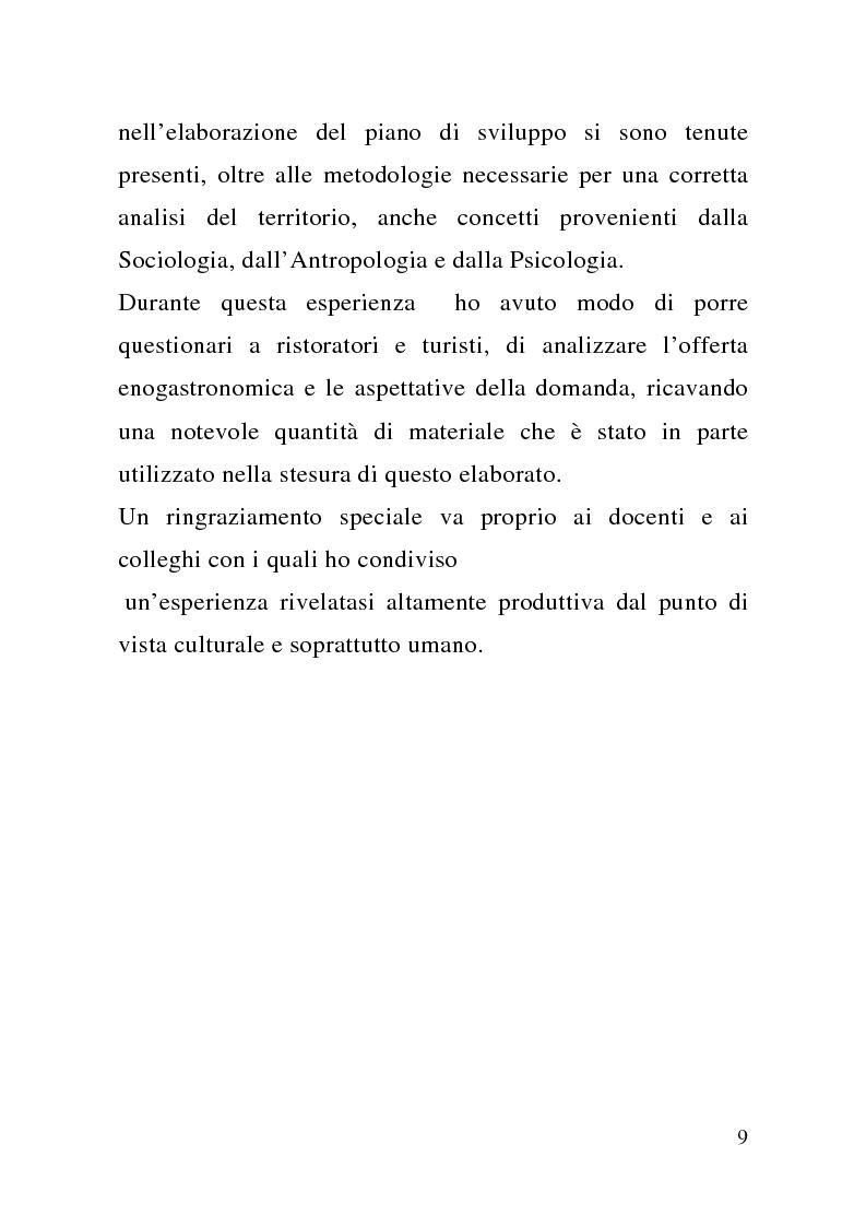 Anteprima della tesi: Enogastronomia e territorio nel fenomeno turistico, Pagina 3