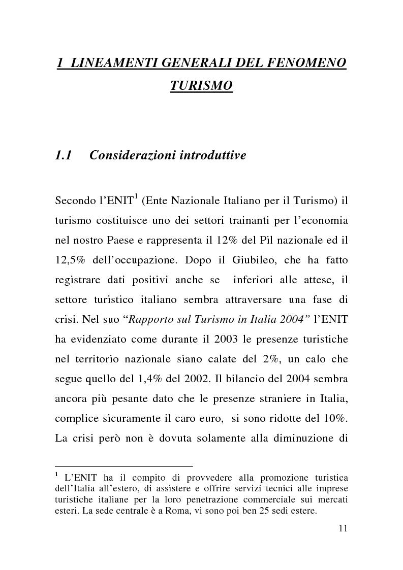 Anteprima della tesi: Enogastronomia e territorio nel fenomeno turistico, Pagina 5