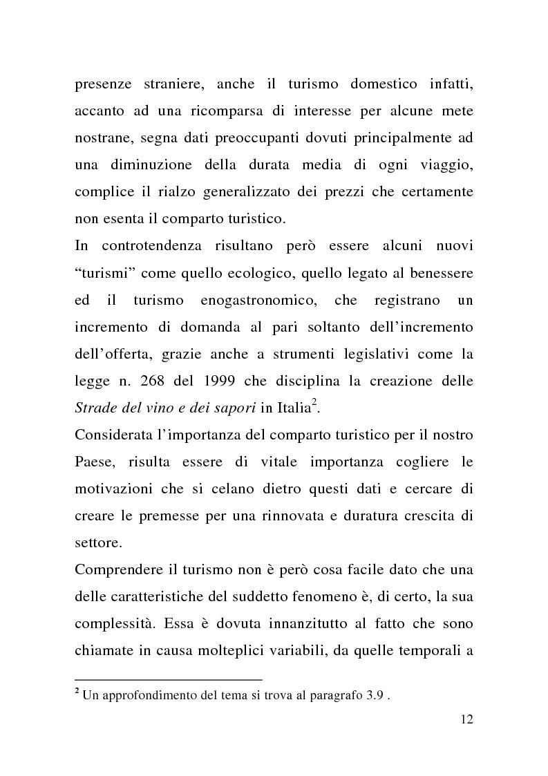 Anteprima della tesi: Enogastronomia e territorio nel fenomeno turistico, Pagina 6