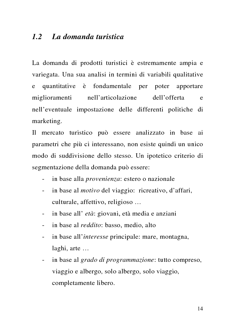 Anteprima della tesi: Enogastronomia e territorio nel fenomeno turistico, Pagina 8