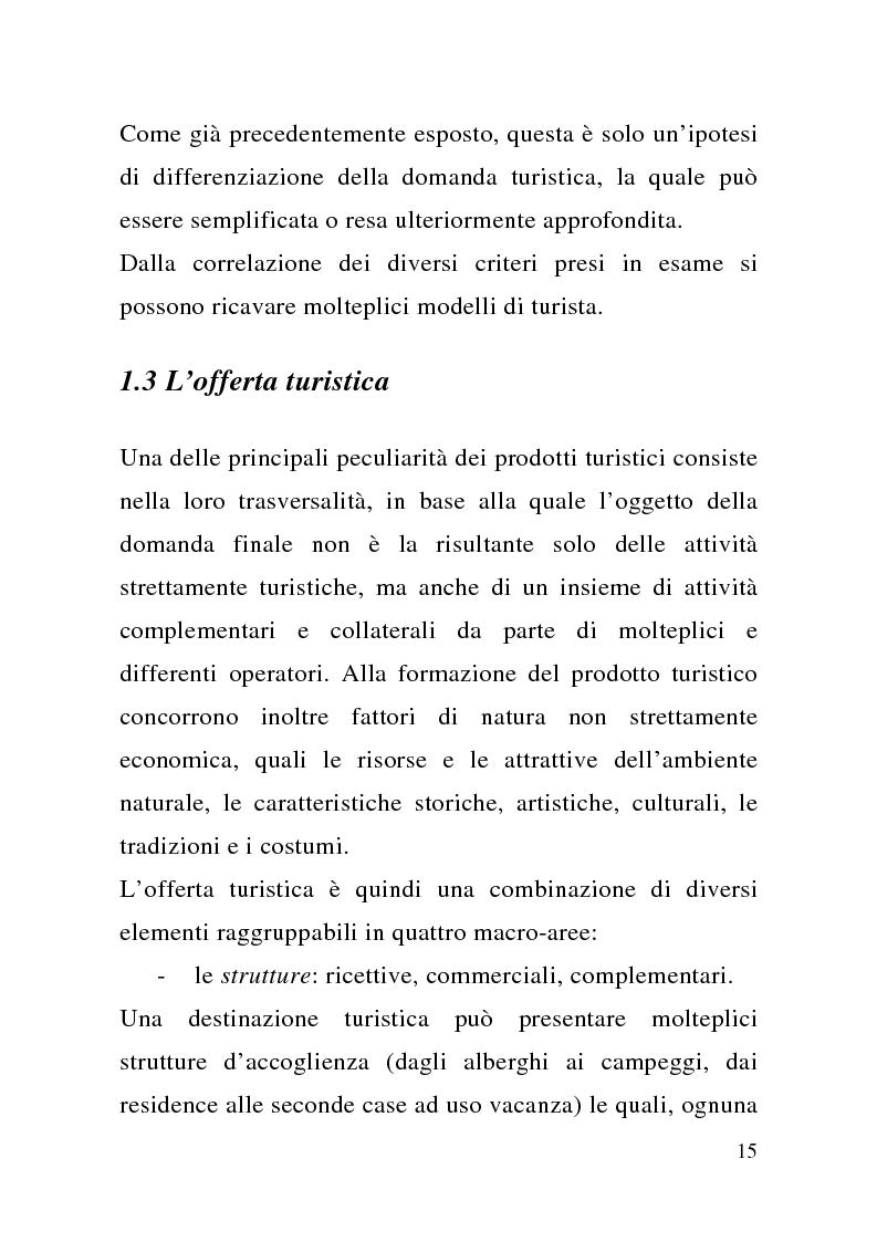 Anteprima della tesi: Enogastronomia e territorio nel fenomeno turistico, Pagina 9