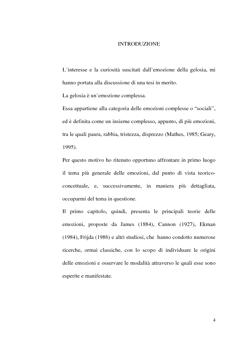 Anteprima della tesi: Differenze di genere nelle emozioni della rivalità: gelosia e invidia, Pagina 1