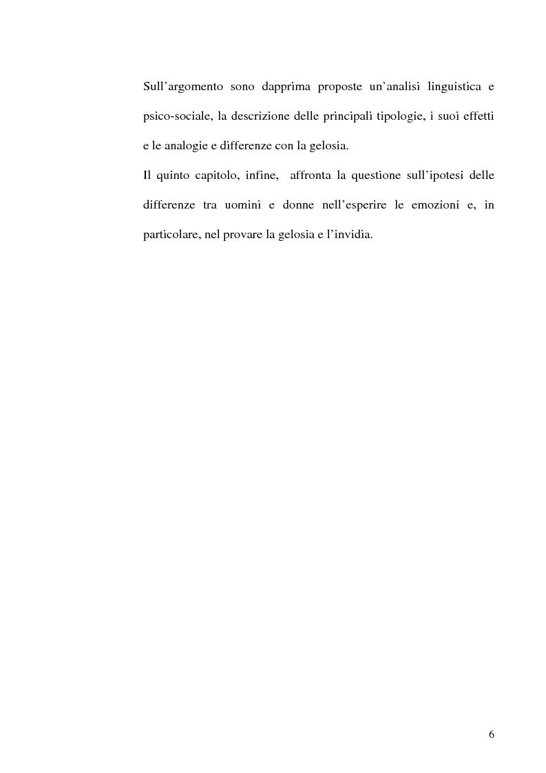 Anteprima della tesi: Differenze di genere nelle emozioni della rivalità: gelosia e invidia, Pagina 3
