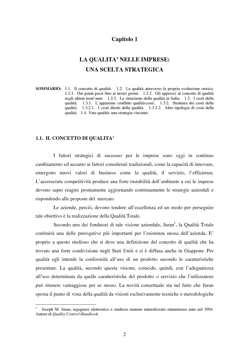 Anteprima della tesi: Certificazione del Sistema di Gestione per la Qualità: l'implementazione in Ferroli S.p.A., Pagina 5